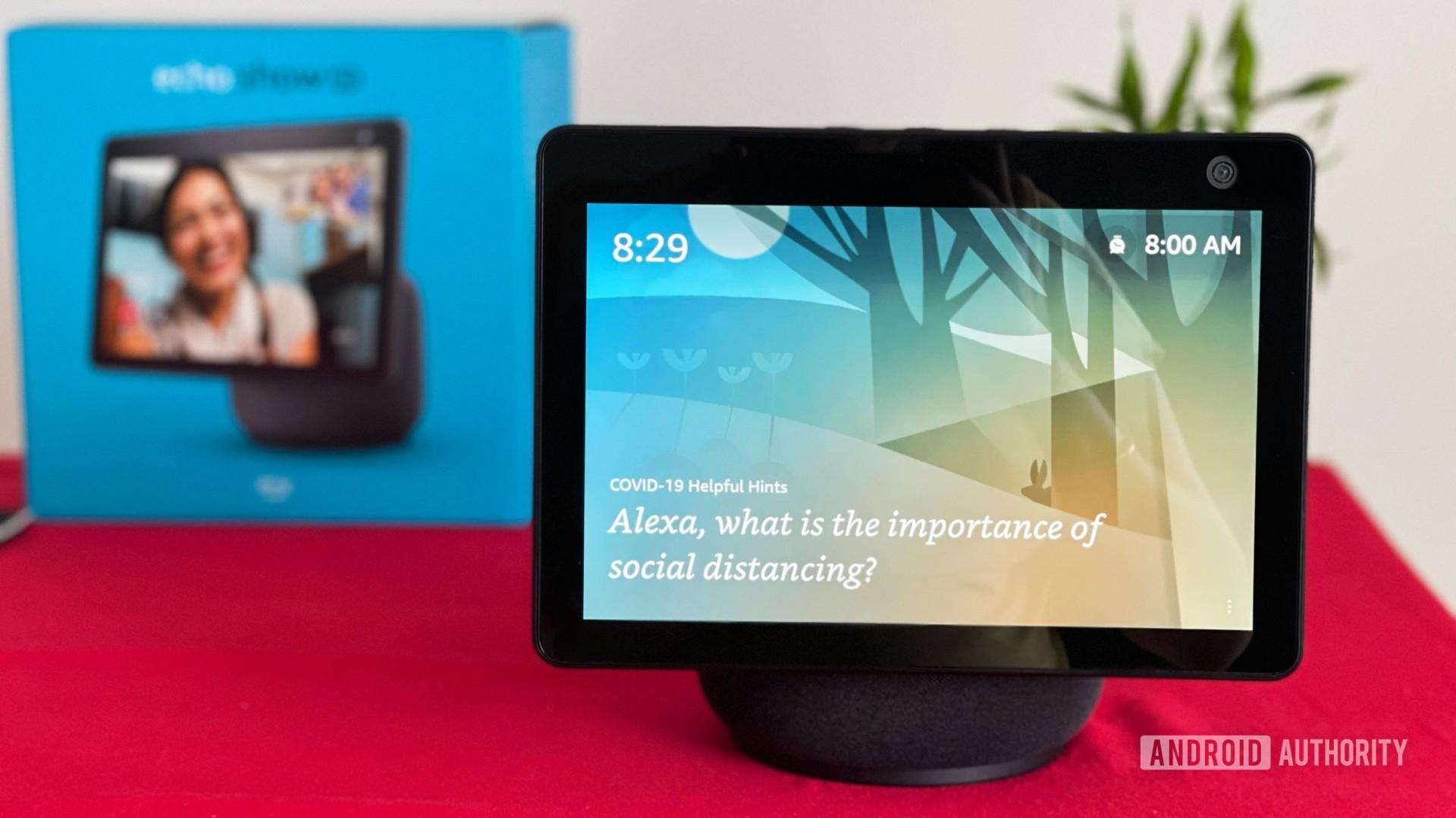 Amazon Echo Show 10 with Alexa on screen