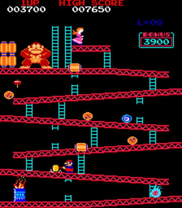 Donkey Kong first level