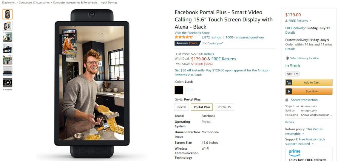 Facebook Portal Plus Deal