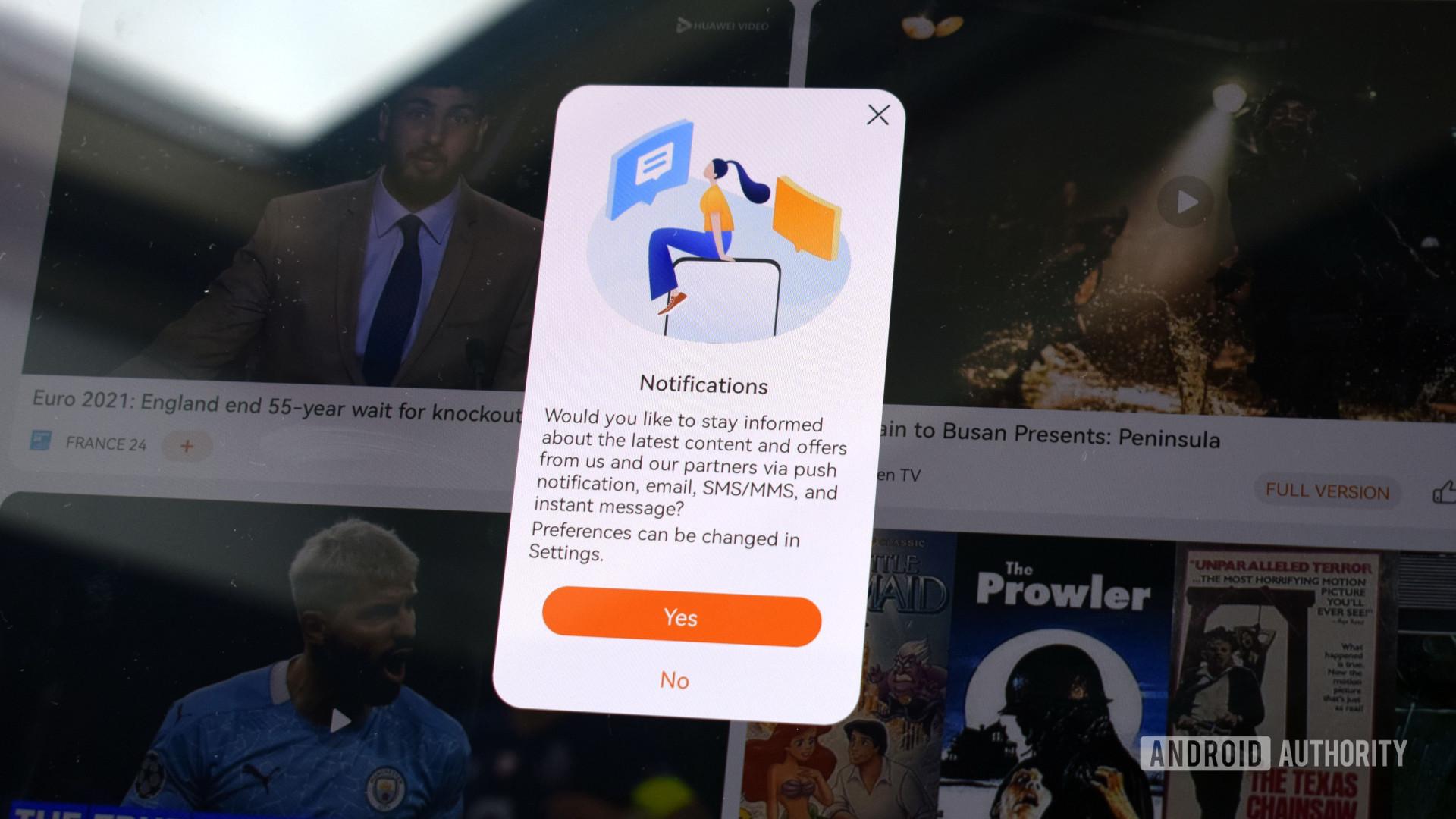 Huawei MatePad Pro 2021 app notifications