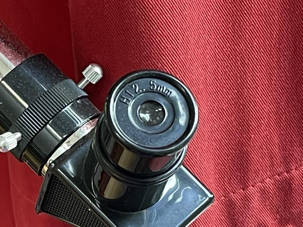 Macro of telescope lens shot on Apple iPhone 12 Pro Max