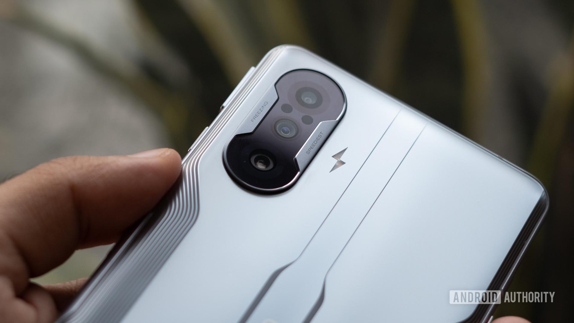 Poco F3 GT camera module close up