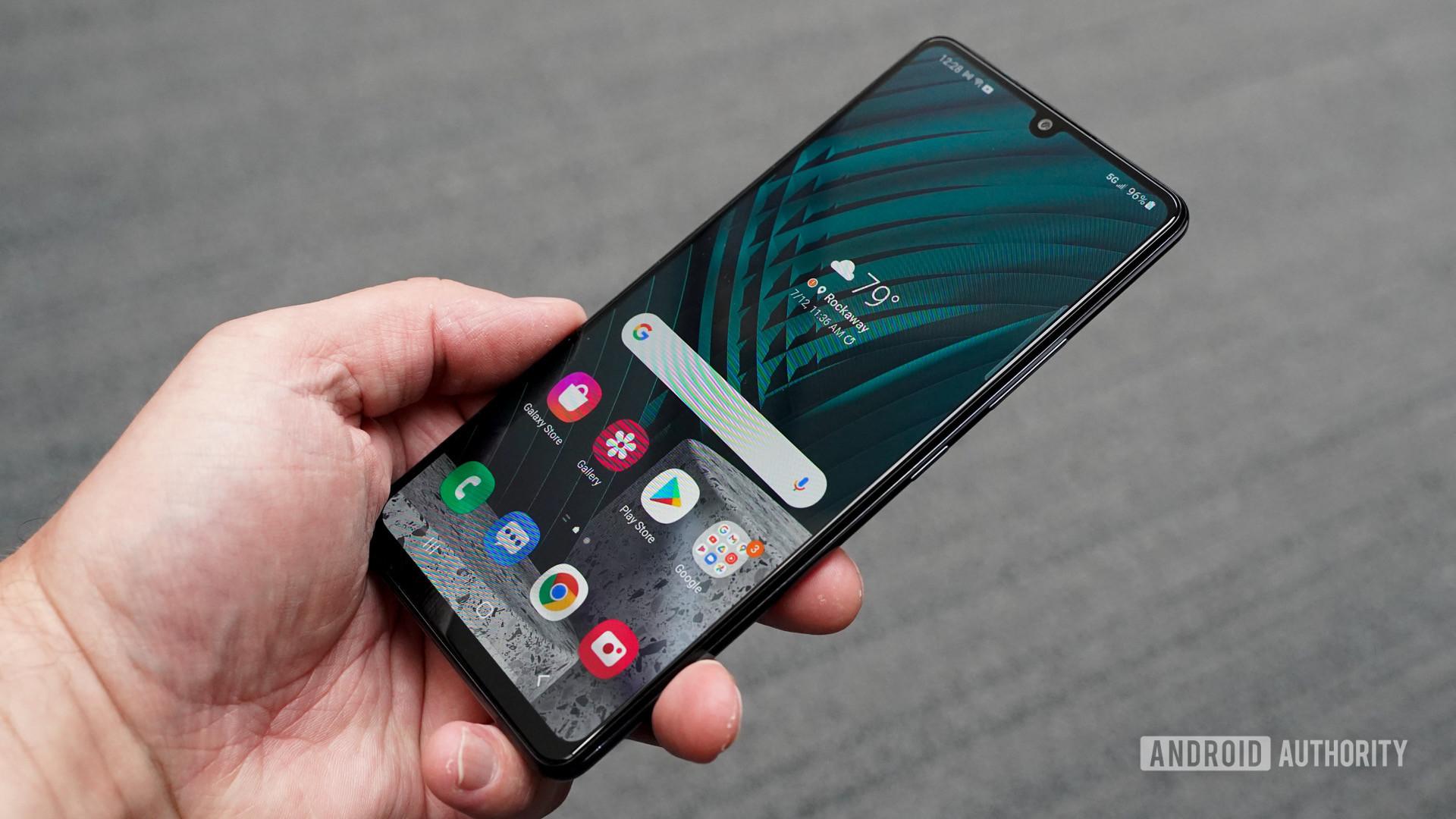 Samsung Galaxy A42 front profile