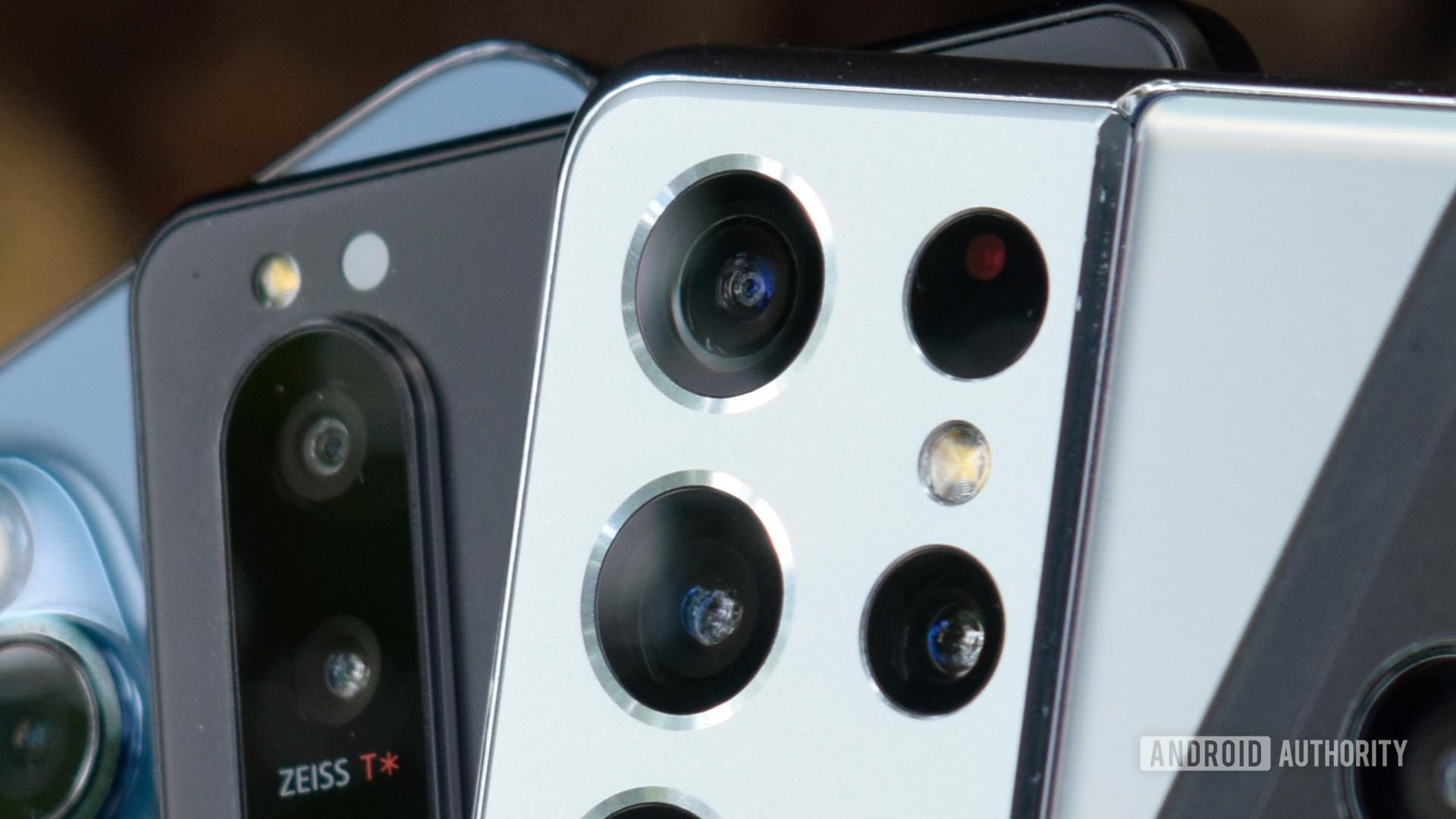 Close up of smartphone camera lens