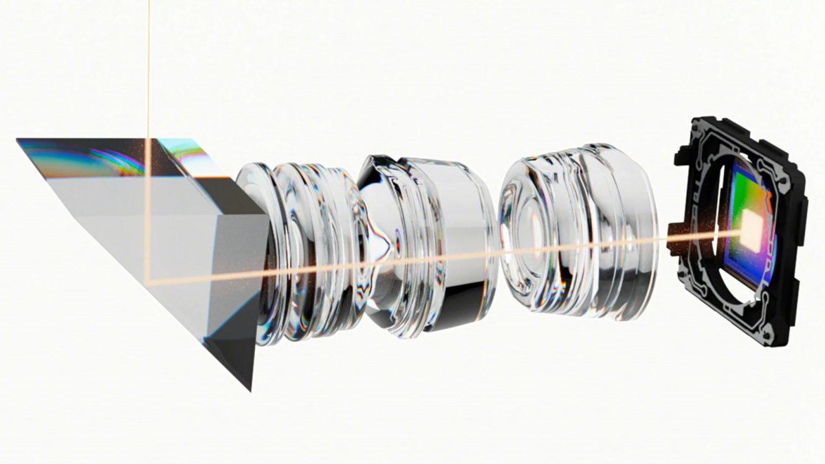 The Sony Xperia 1 III zoom camera lenses.