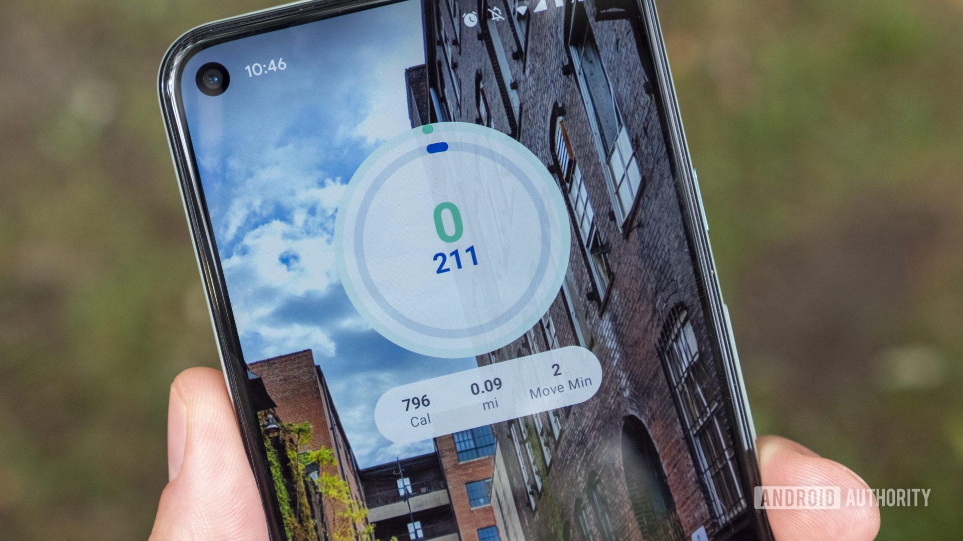 google fit home screen widget