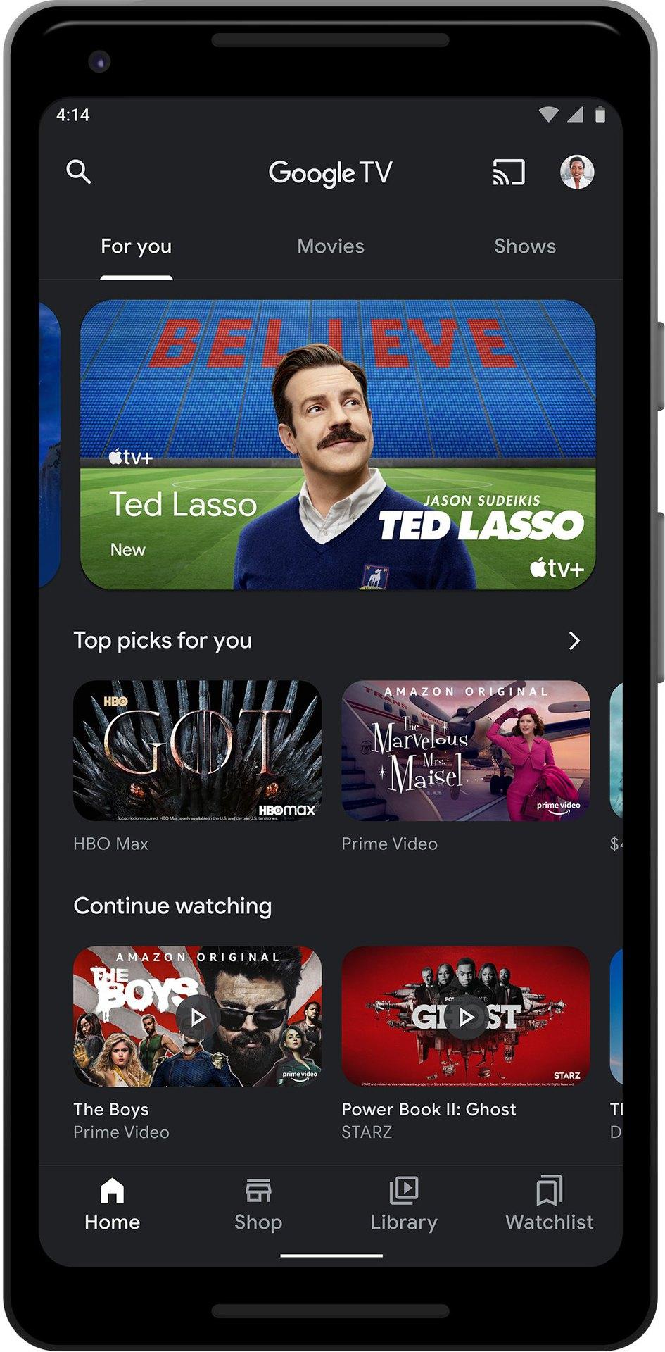 google tv app updates 2