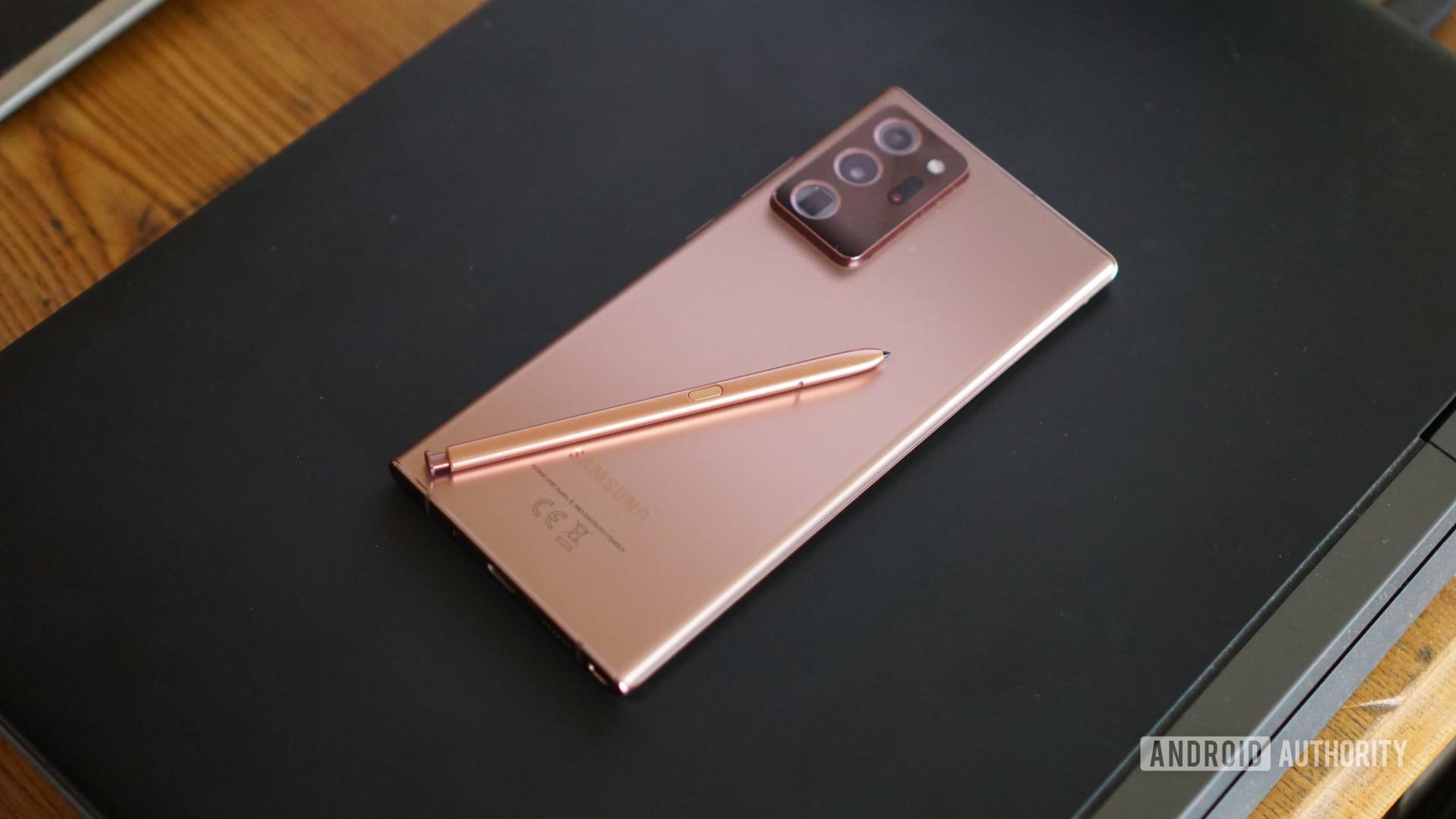 Galaxy Note 20 Ultra S Pen on back