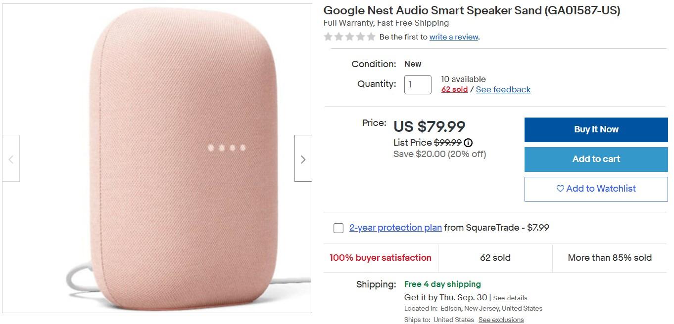 Google Nest Audio Ebay Deal