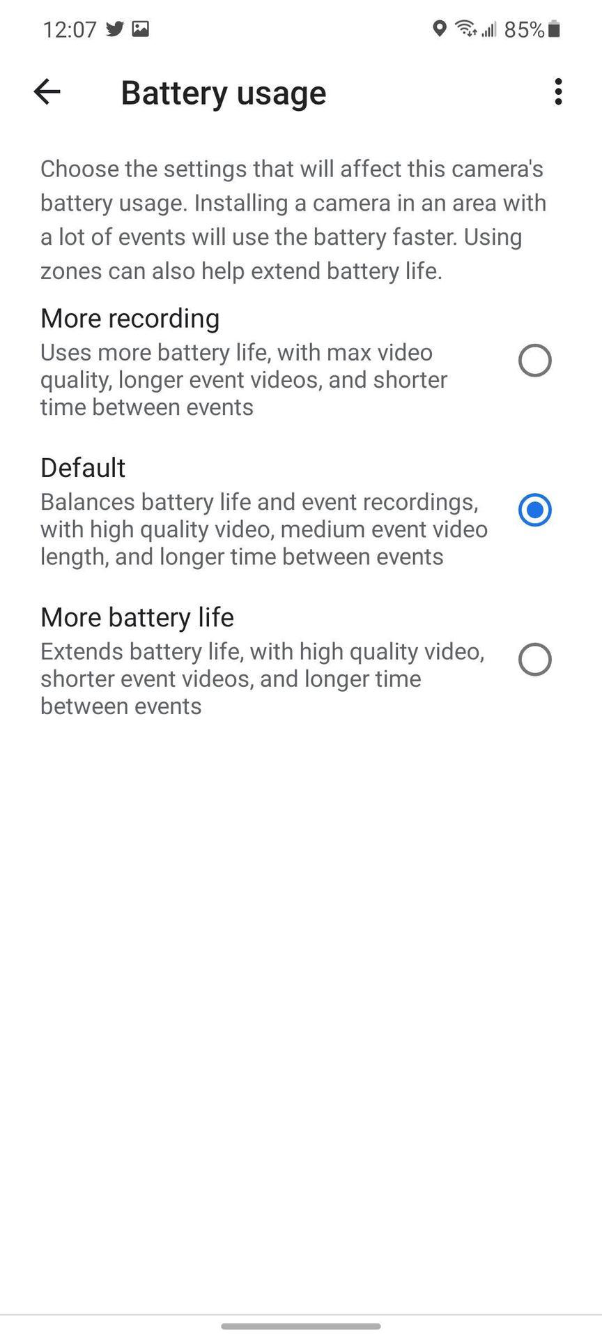 Google Nest Doorbell Battery Stats Screenshot 2