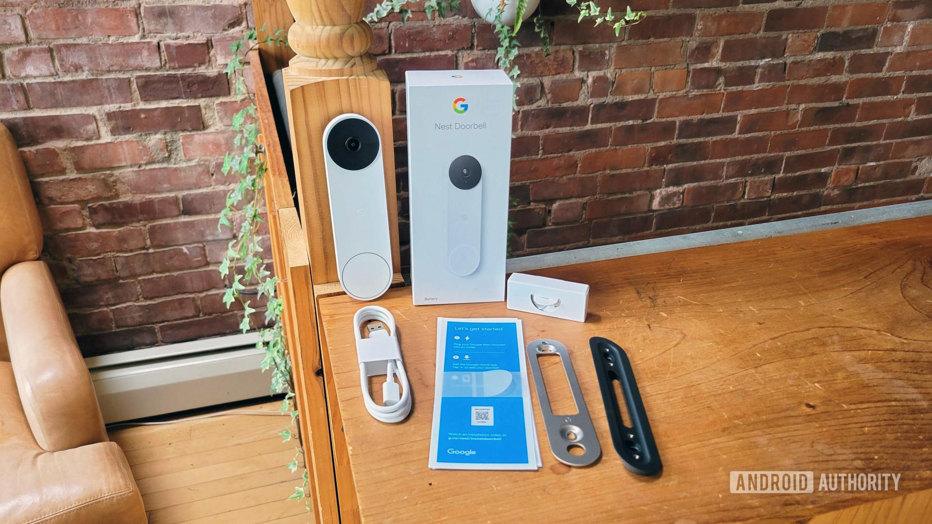 Google Nest Doorbell Review Retail In Box Contents