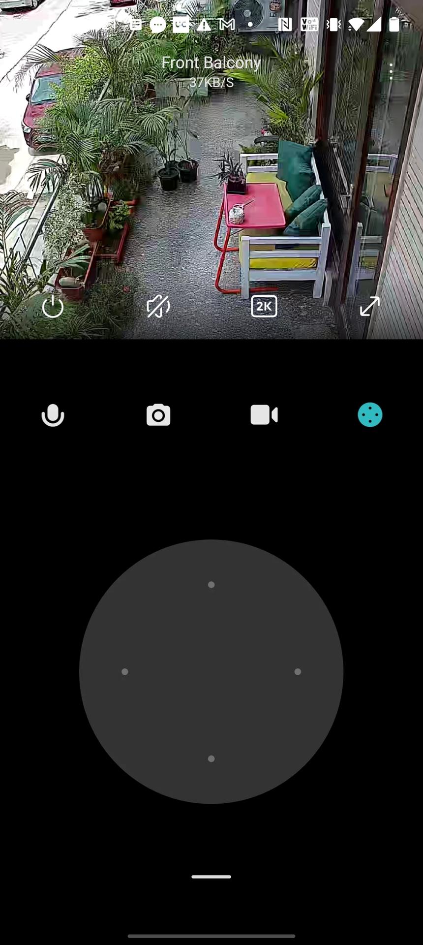 Mi 360 security camera app controls