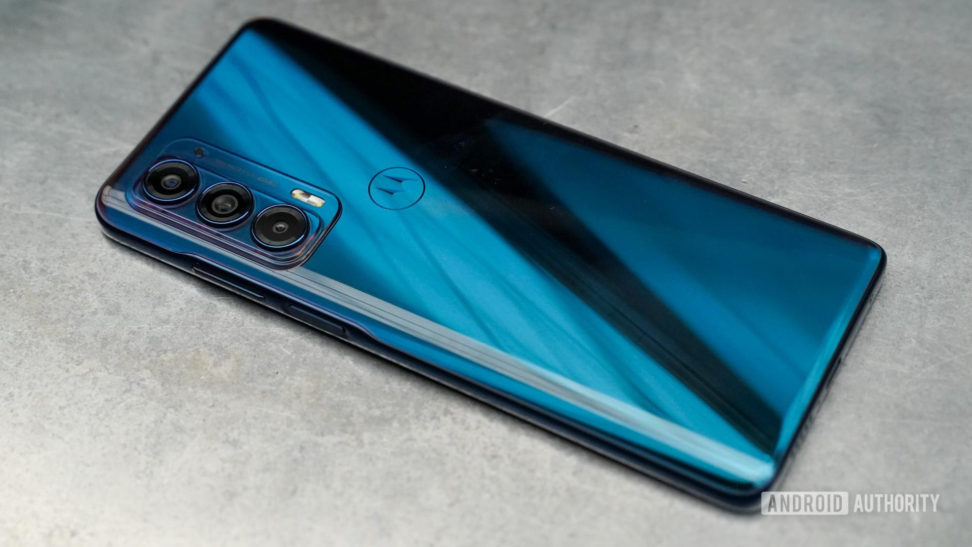 Motorola Edge rear left profile