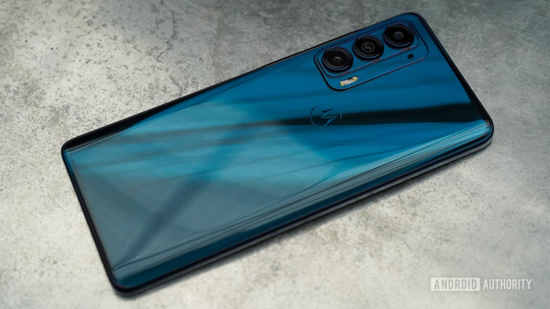 Motorola Edge rear right profile