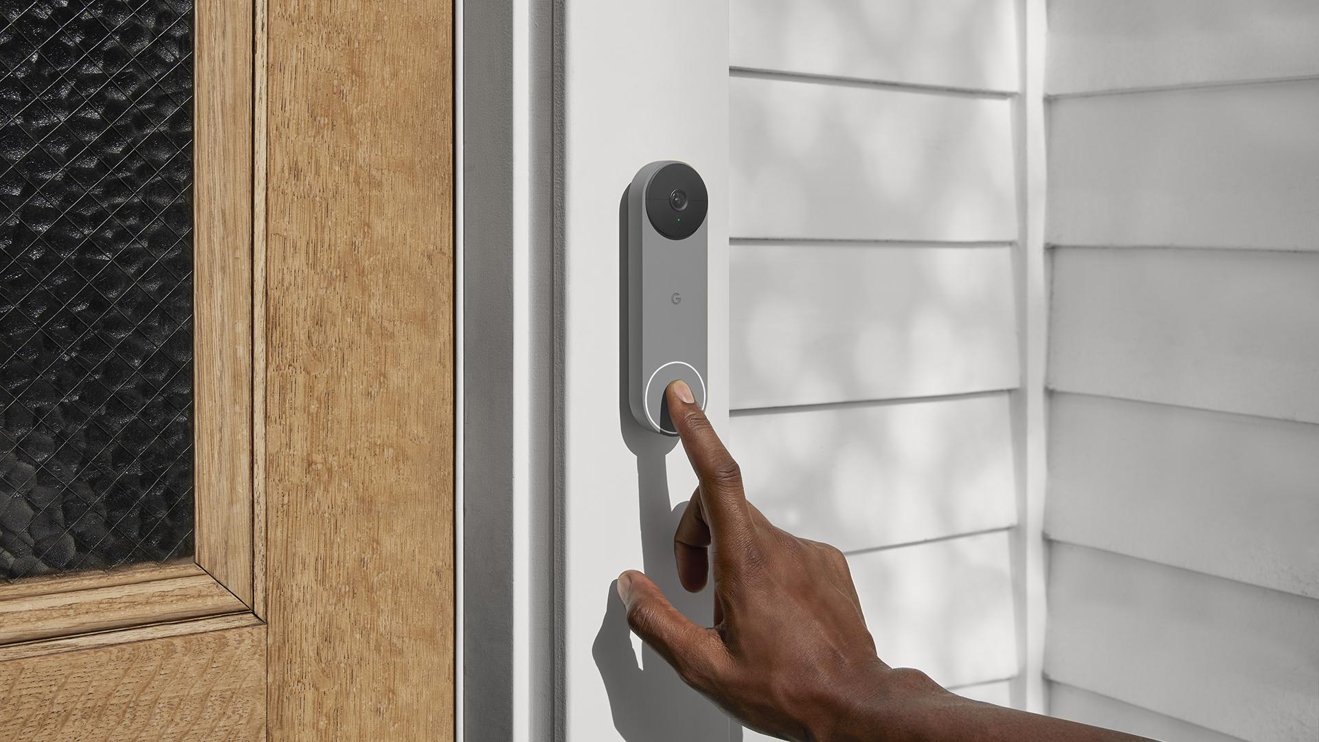 Nest Doorbell battery Ash lifestyle