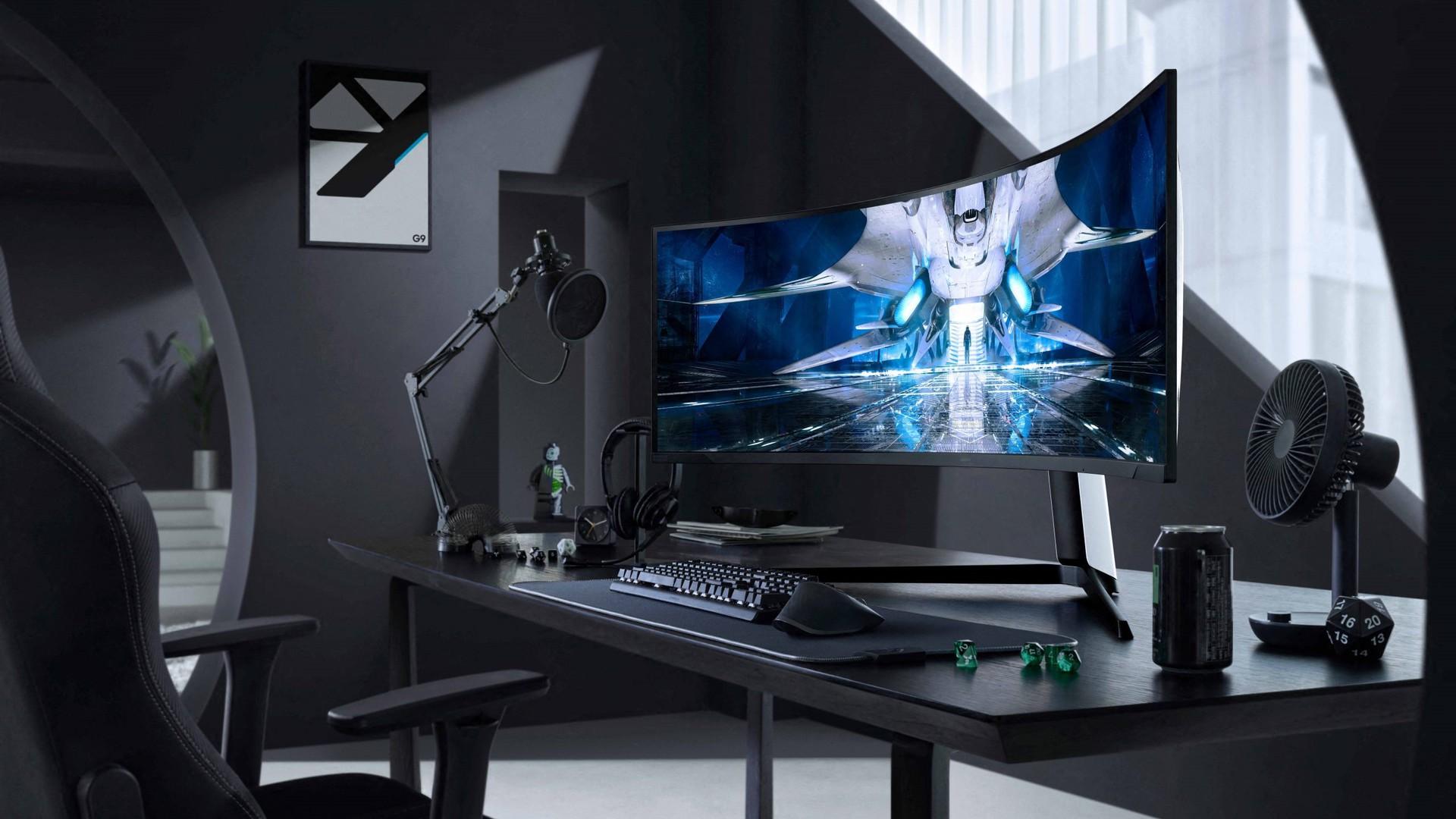 Odyssey Neo G9 on desk