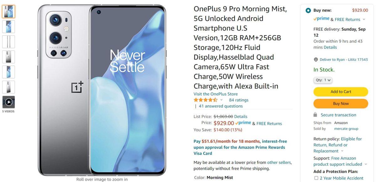 OnePlus 9 Pro Amazon Deal