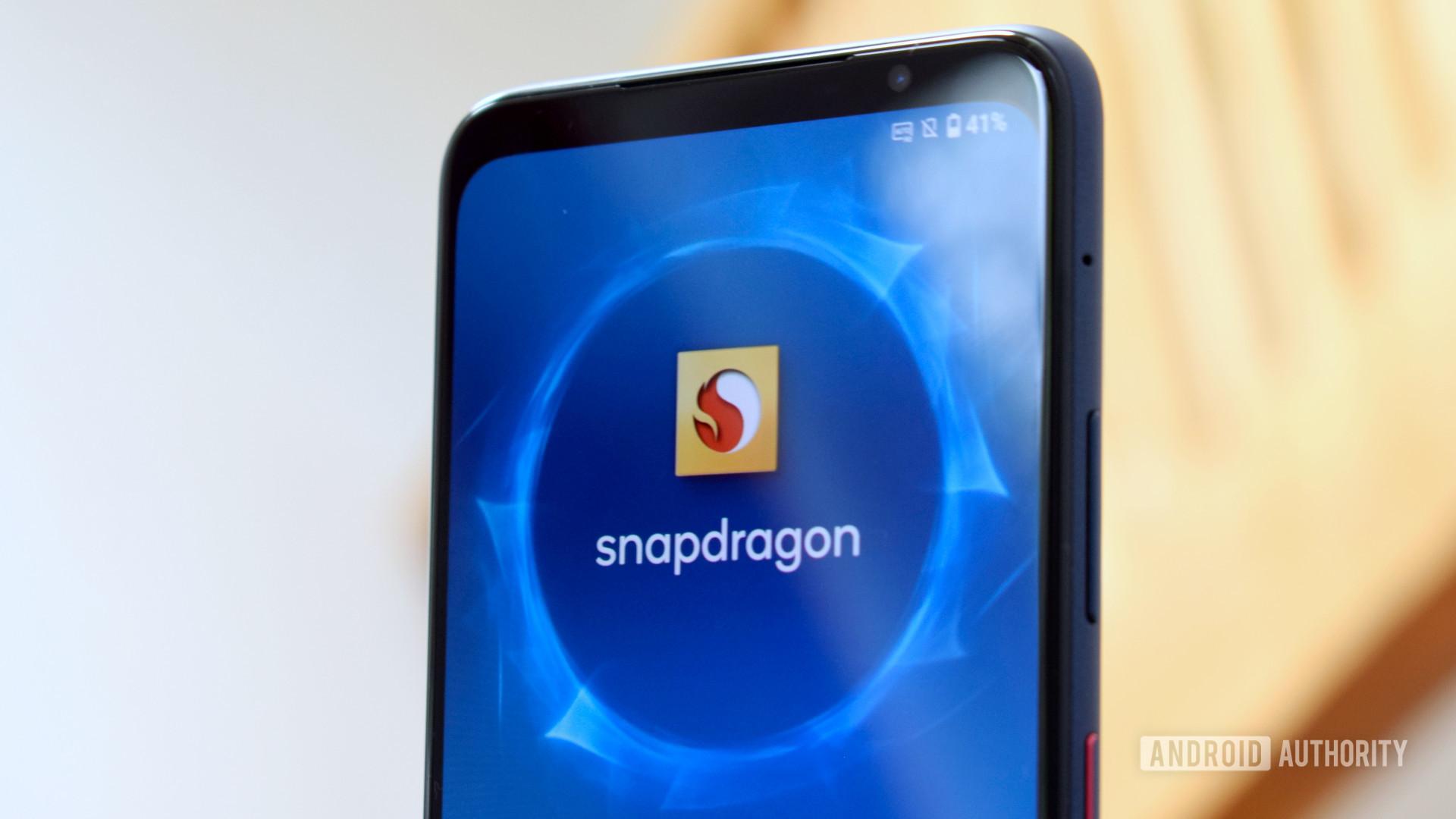 Qualcomm Smartphone logo on display