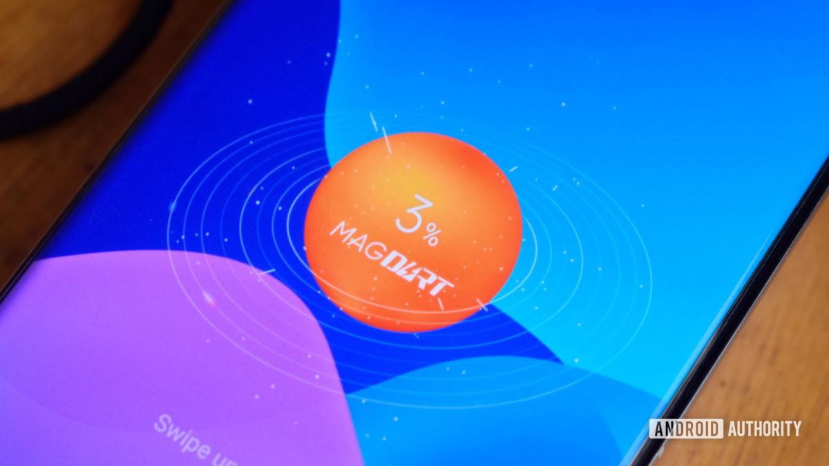 Realme MagDart Concept Phone charging logo close up