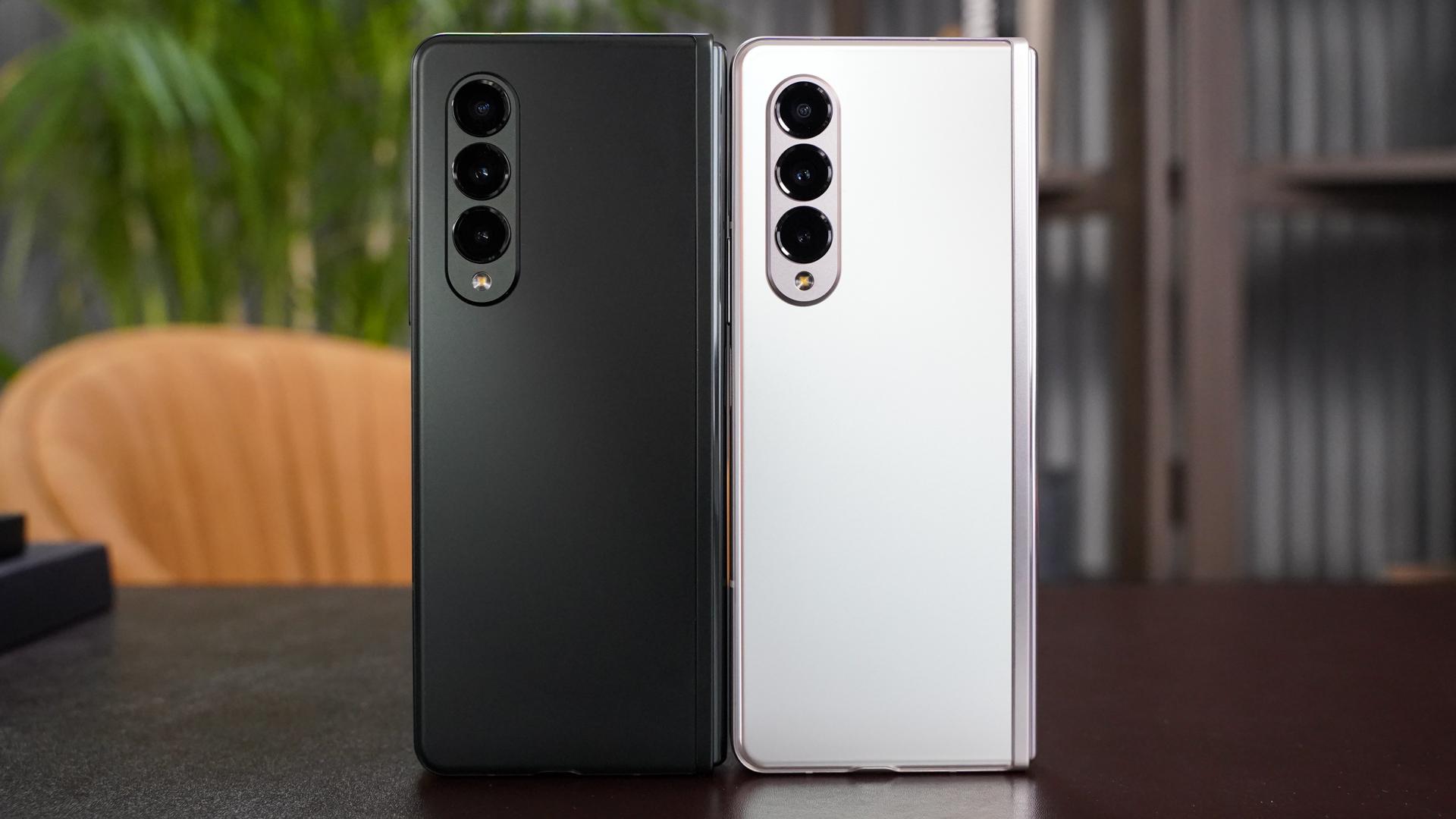 Samsung Galaxy Fold 3 in black and silver