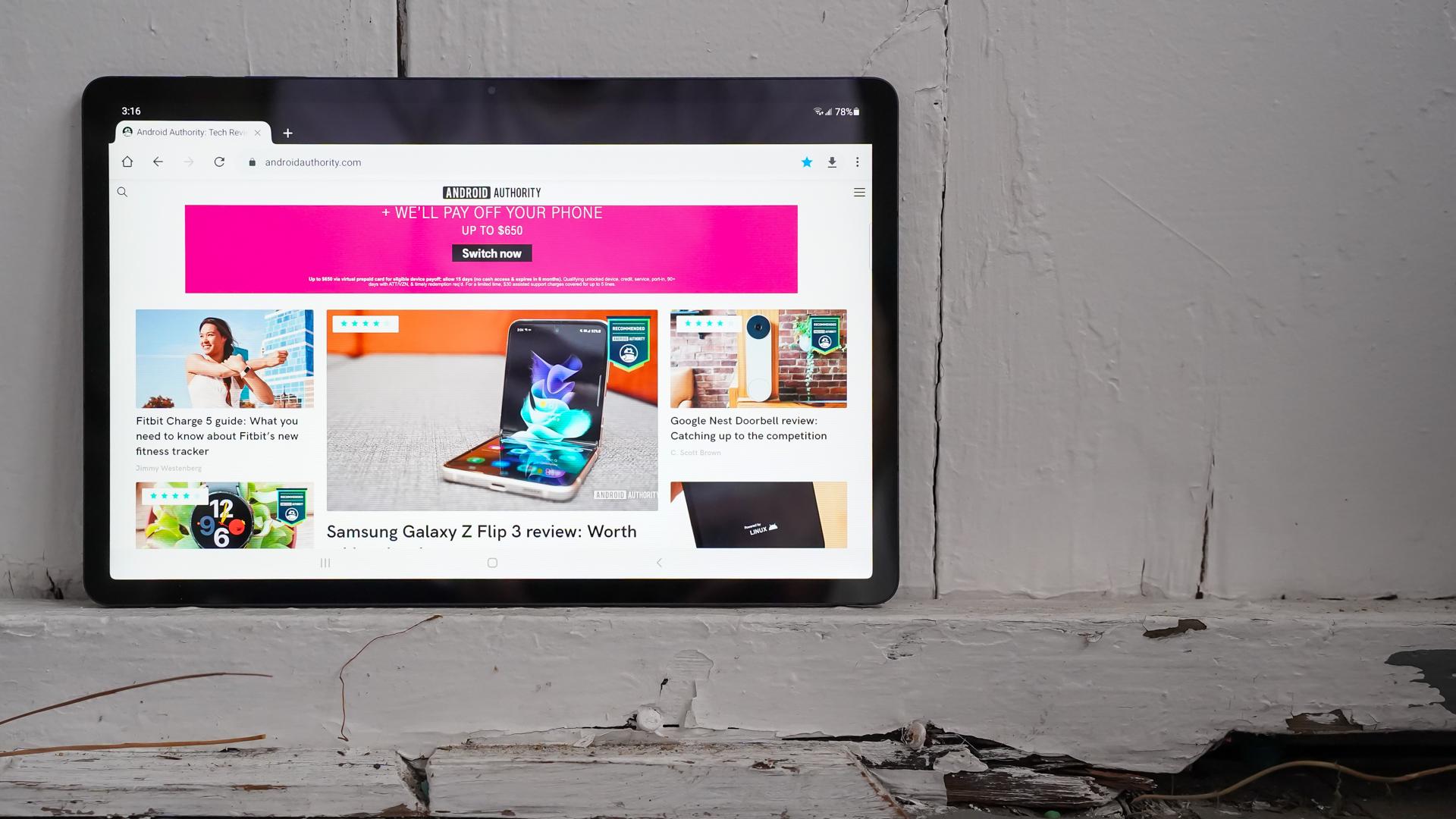 Samsung Galaxy Tab S7 FE Chrome with AA