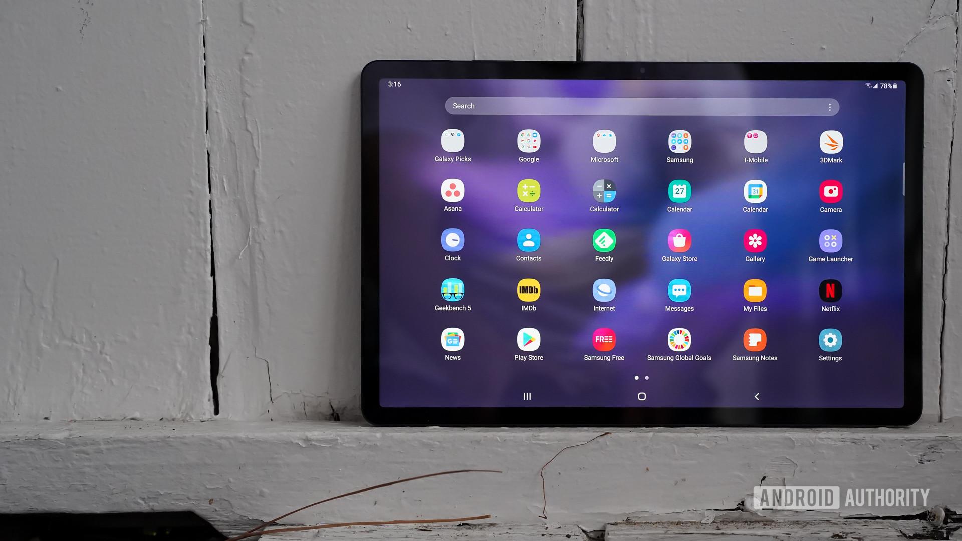 Samsung Galaxy Tab S7 FE app drawer