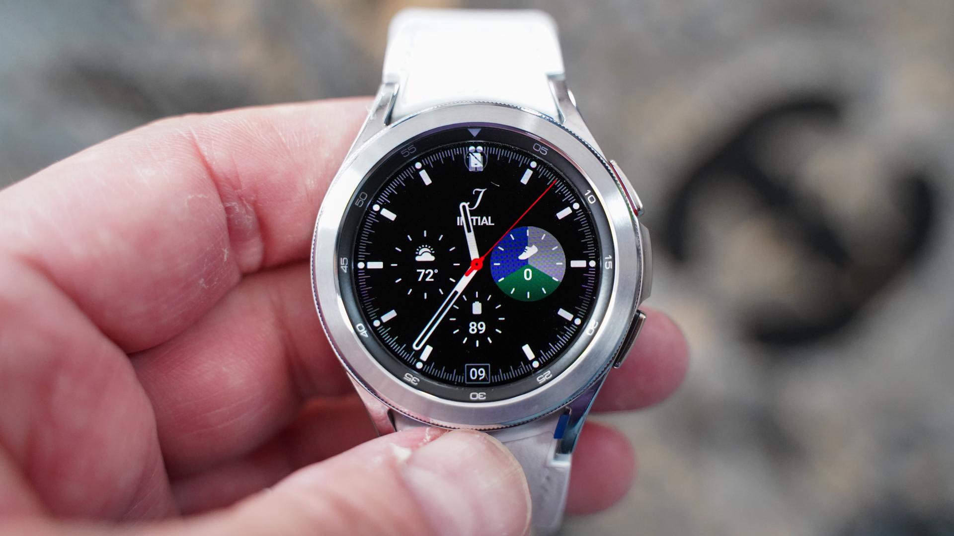 Samsung Galaxy Watch 4 Classic home screen
