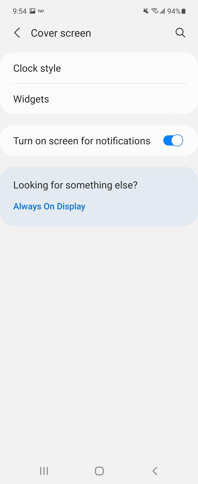 Samsung Galaxy Z Flip 3 Cover Screen controls