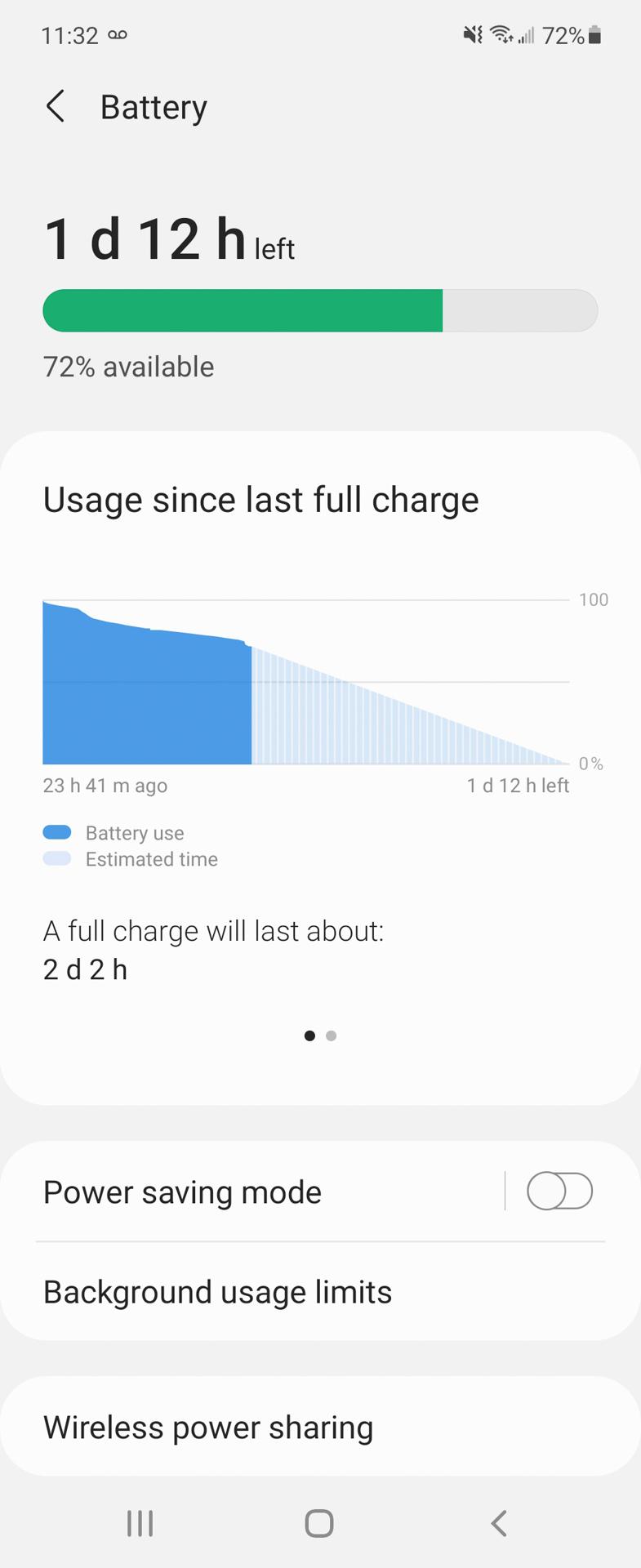 Samsung Galaxy Z Flip 3 battery snapshot