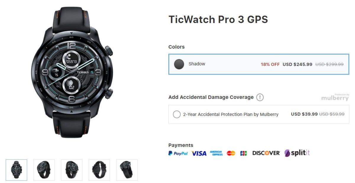 TicWatch Pro 3 GPS Mobvoi Deal