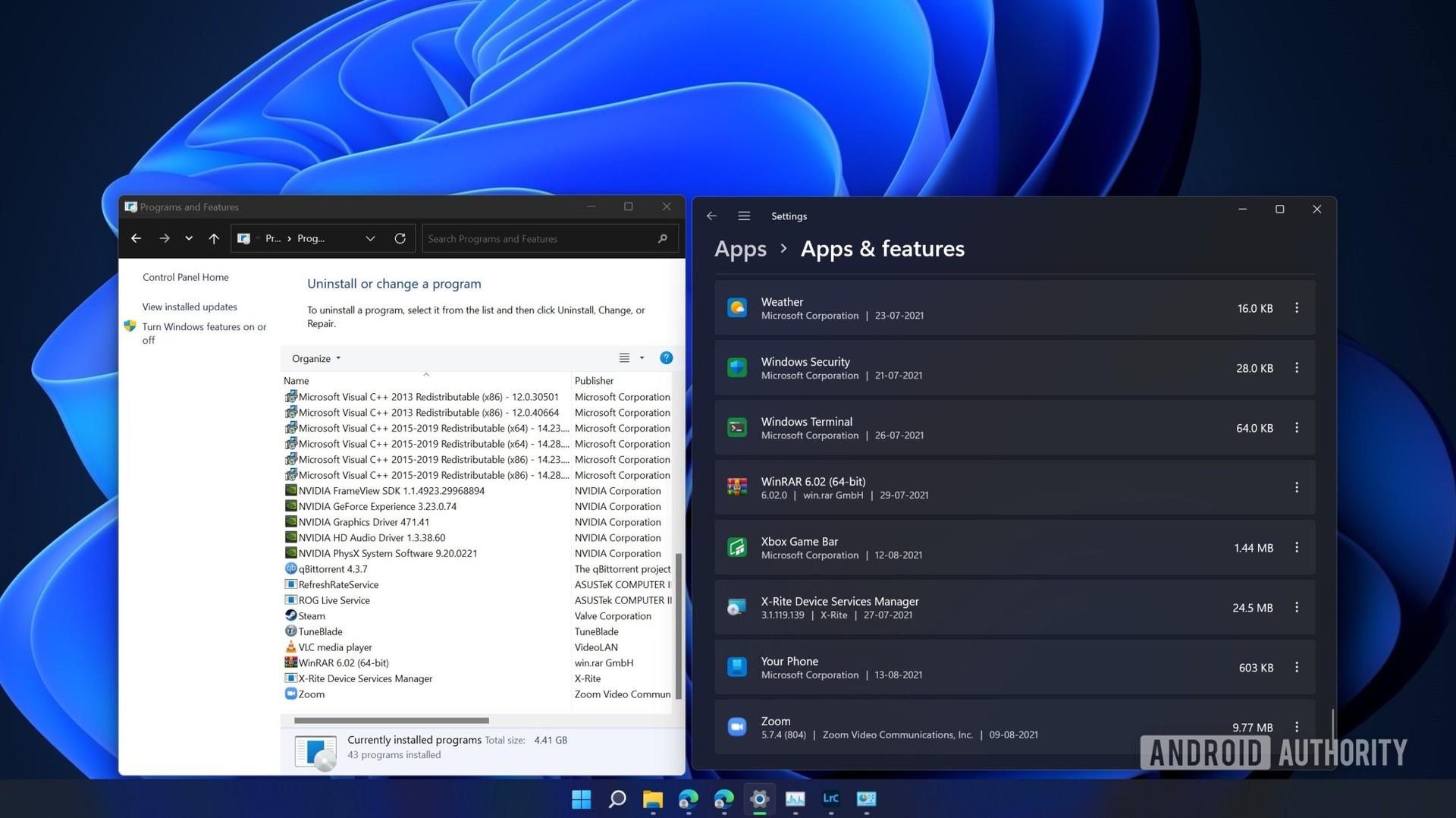 Windows 11 beta dual apps