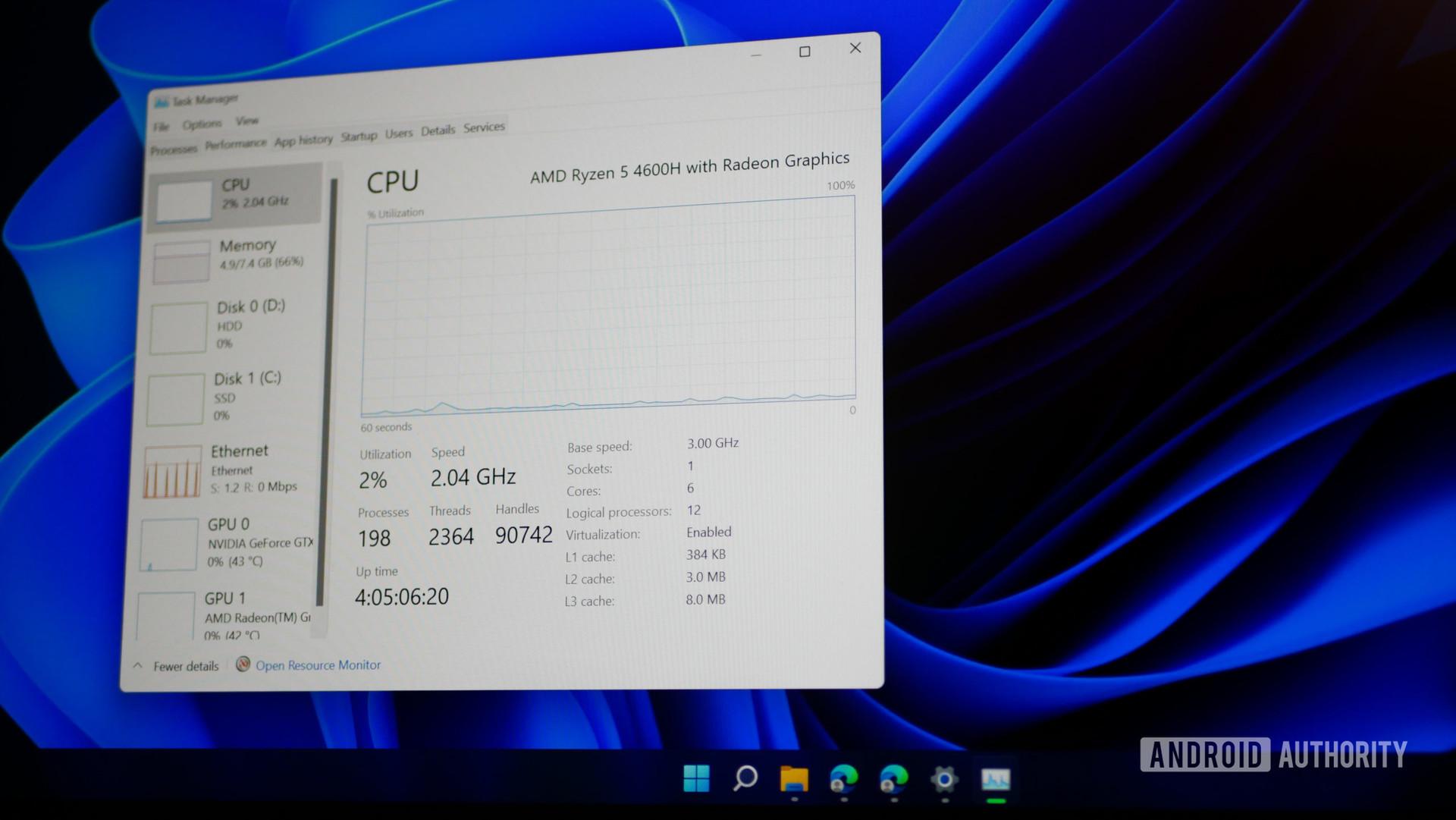 Windows 11 beta performance