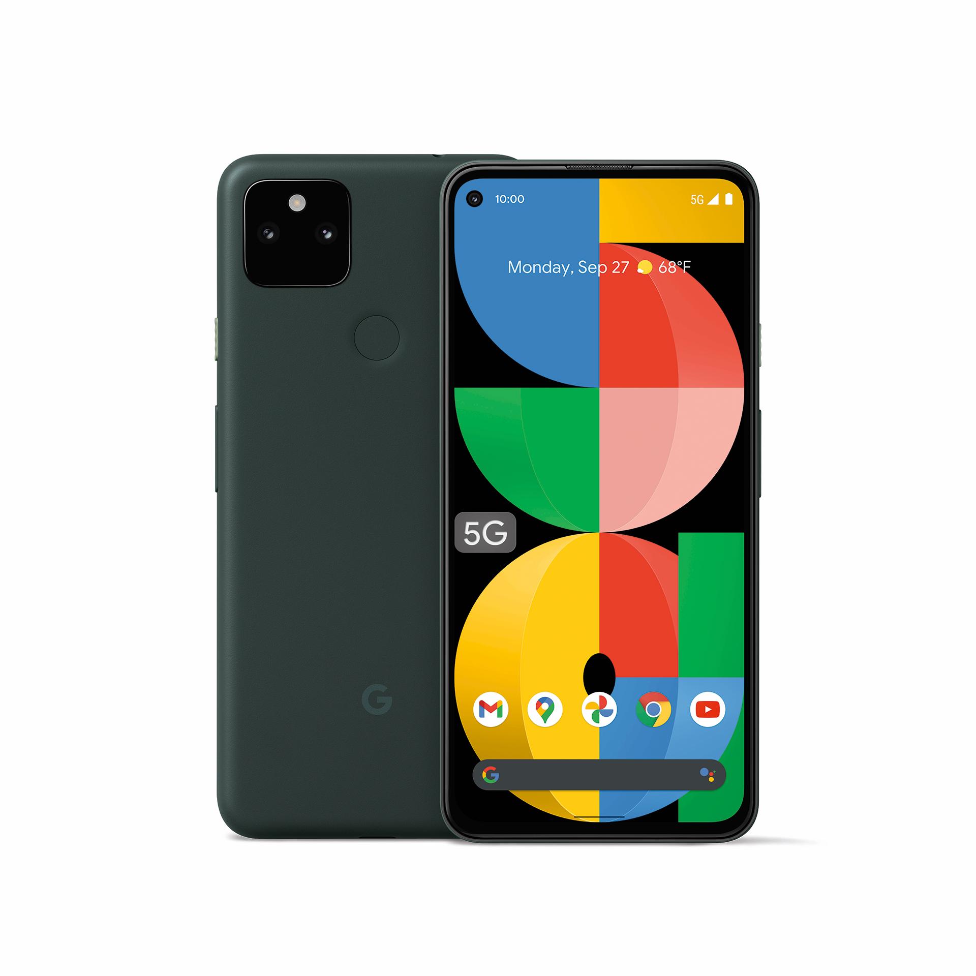 google pixel 5a press image mostly black