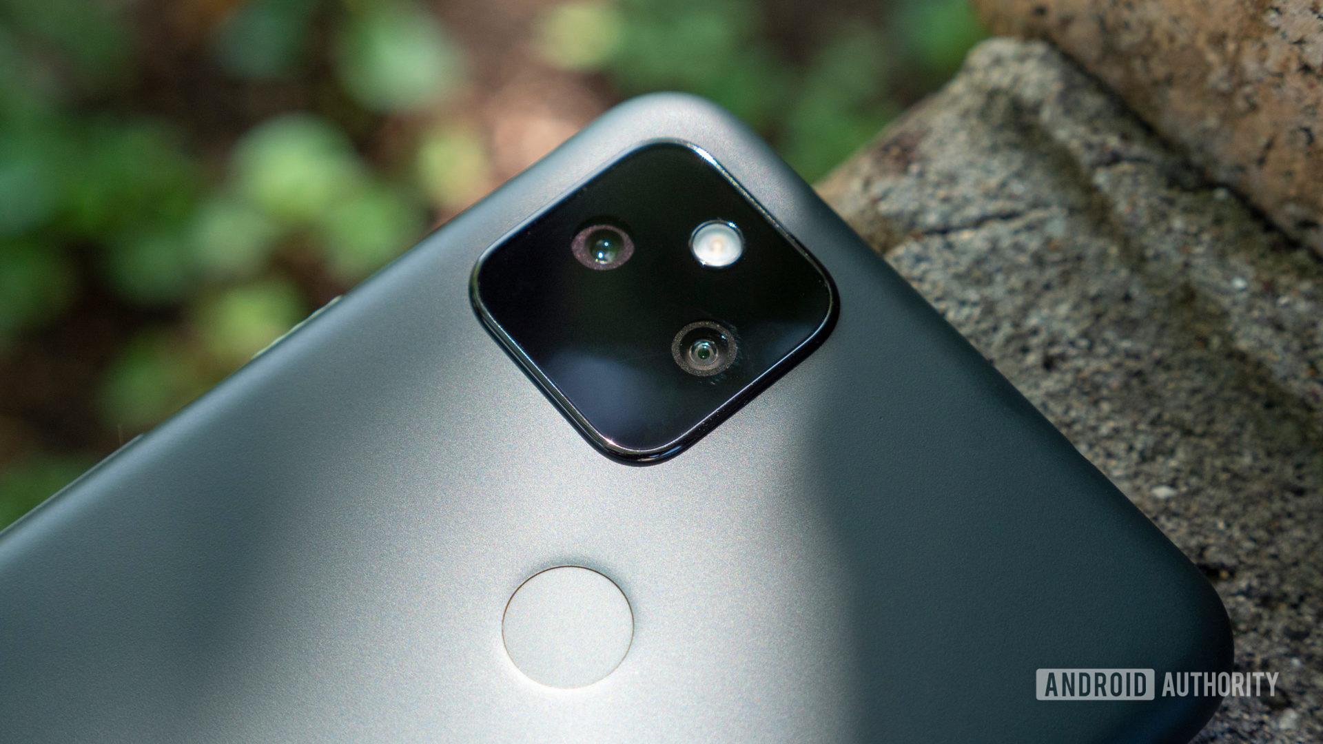 the google pixel 5a camera module and fingerprint sensor