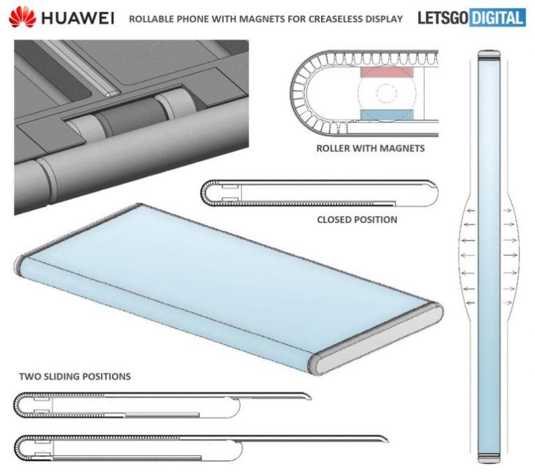 huawei rollable patent letsgodigital