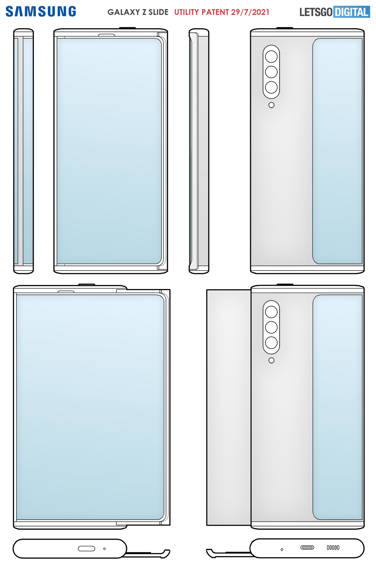 samsung rollable phone patent