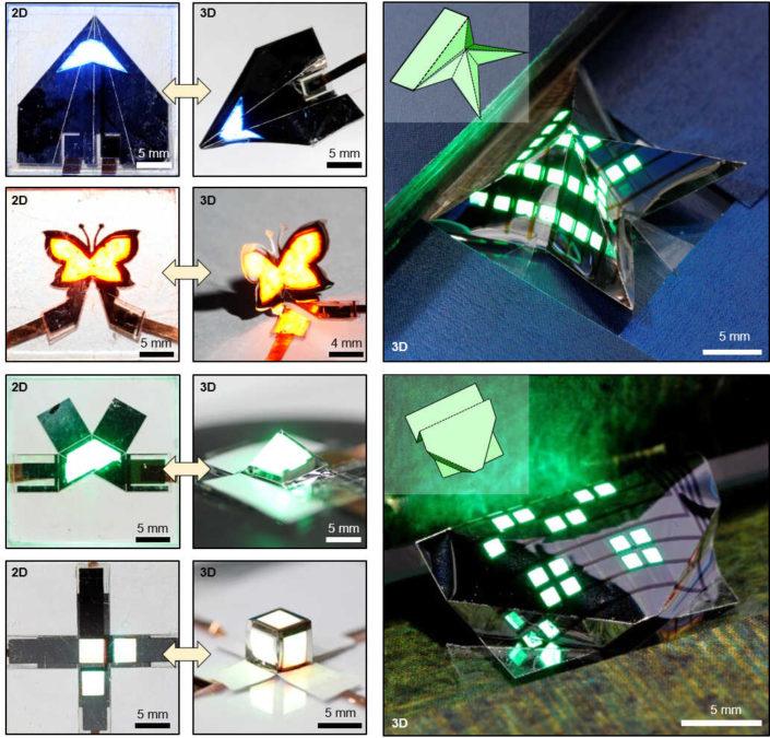 3D foldable display