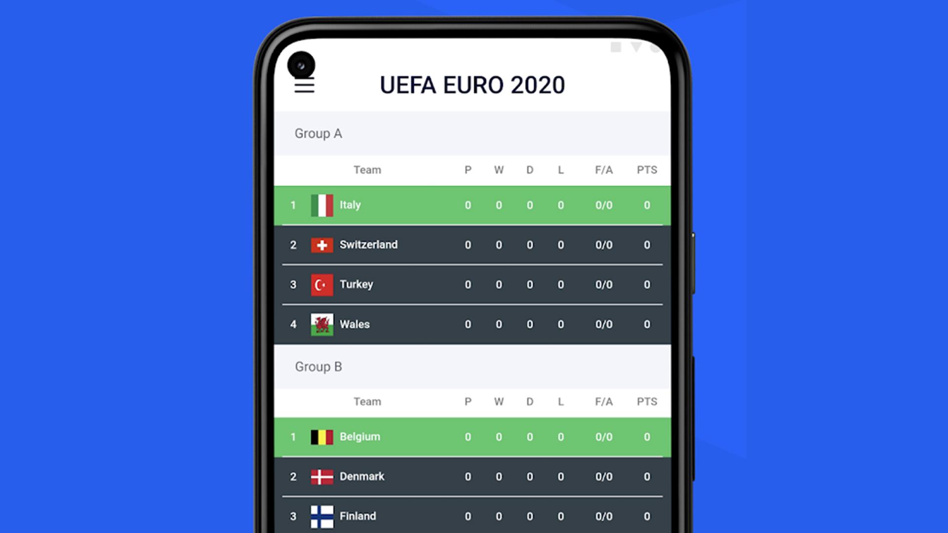 best new android apps - Opera Football screenshot