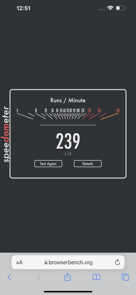 Apple iPhone 13 Pro Max SpeedBench