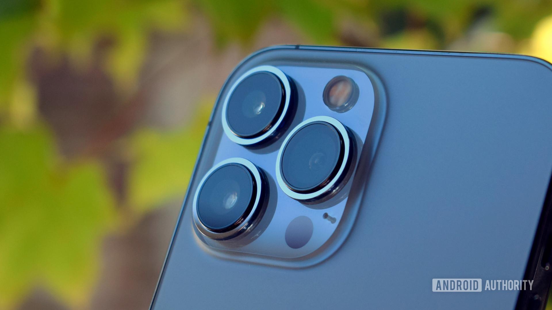 Apple iPhone 13 Pro Max camera module ultra close