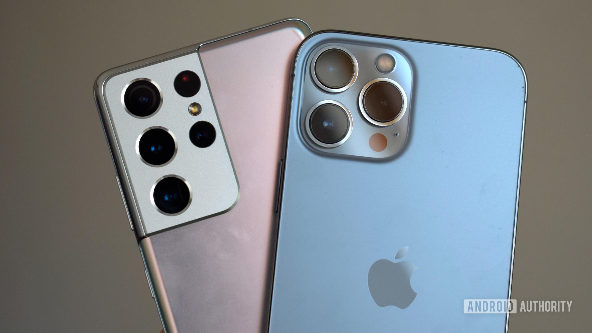 Apple iPhone 13 Pro Max vs Samsung Galaxy S21 Ultra cameras