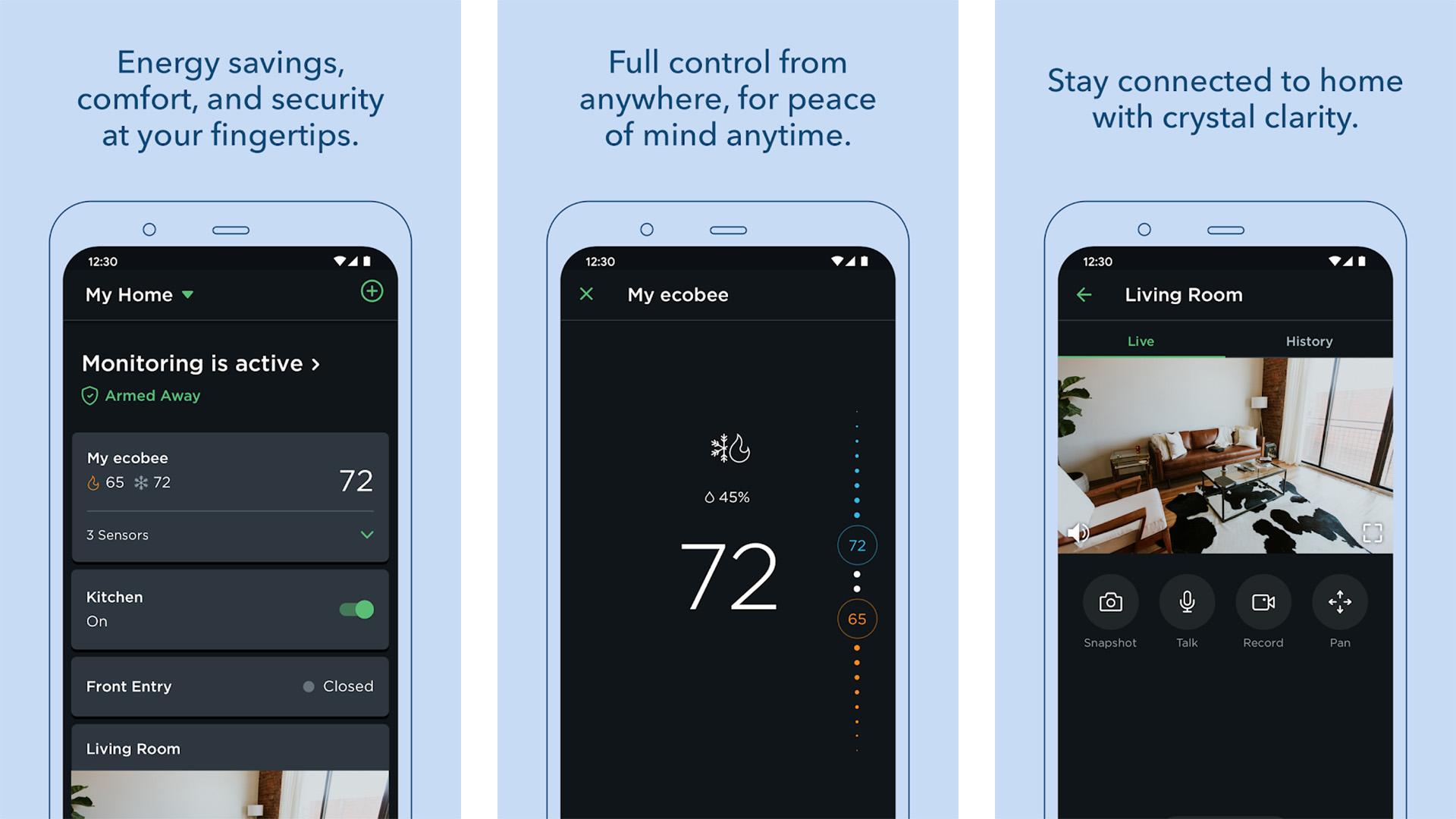 Ecobee screenshot 2021