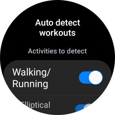 Galaxy Watch 4 Samsung Health App Auto Detect
