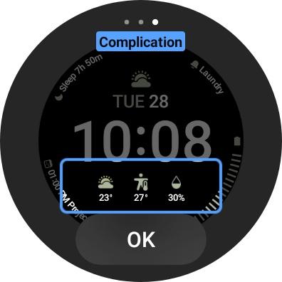 Galaxy Watch 4 Screenshot Face Center Complication