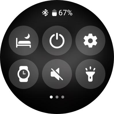Galaxy Watch 4 Screenshot Quick Panel