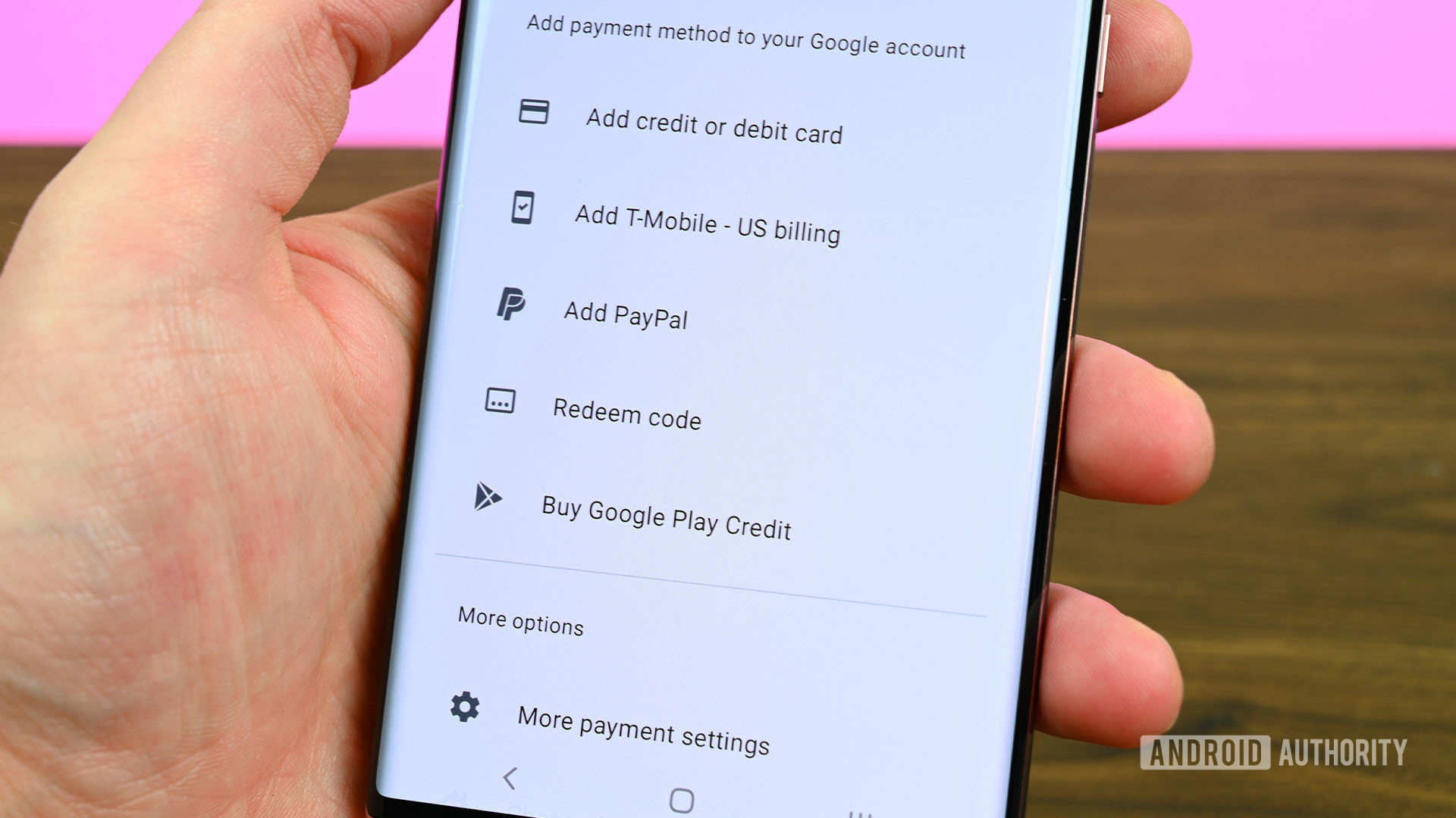 Google Play Store Add A Payment Method