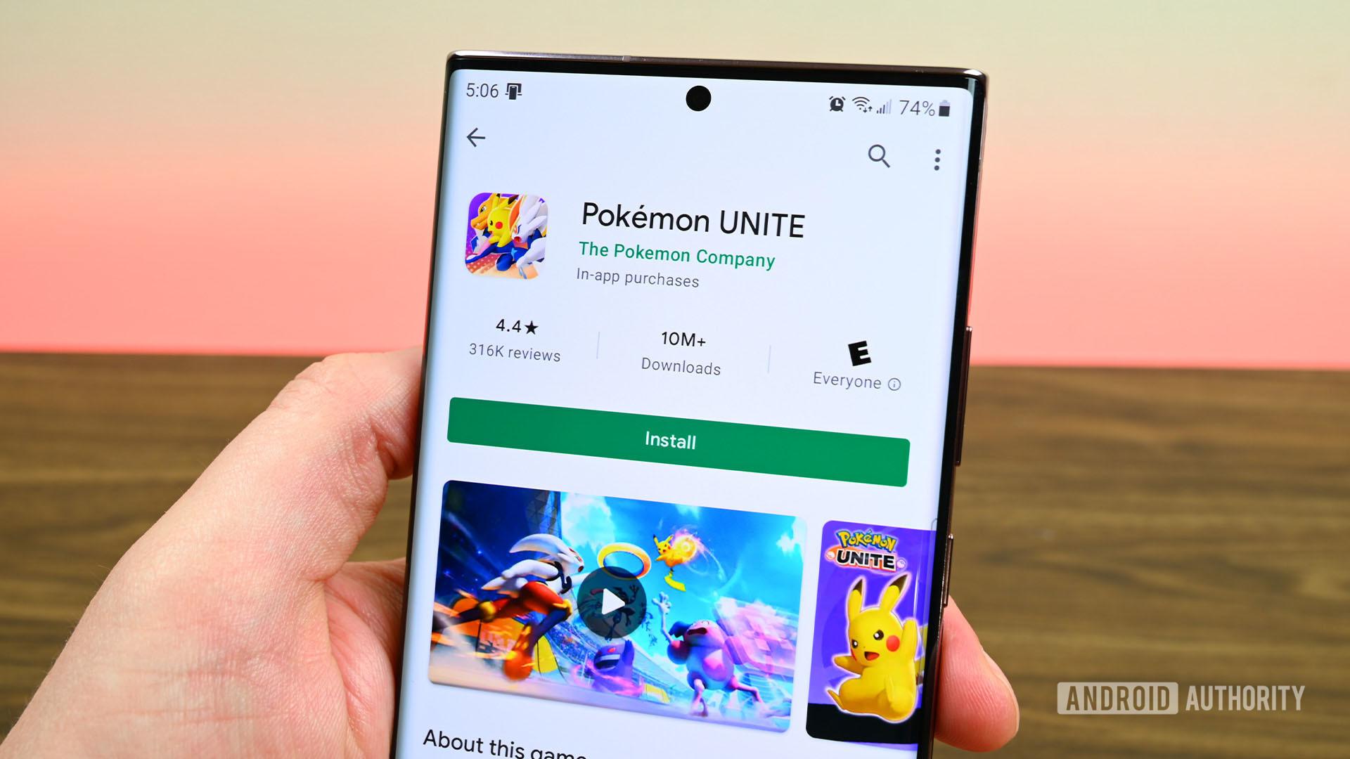 Google Play Store Download Pokemon Unite