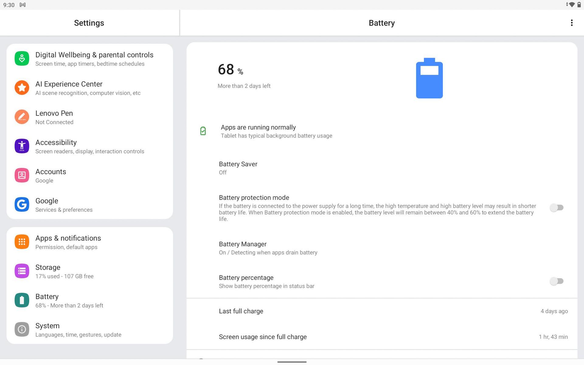 Lenovo Yoga Tab 13 Battery life
