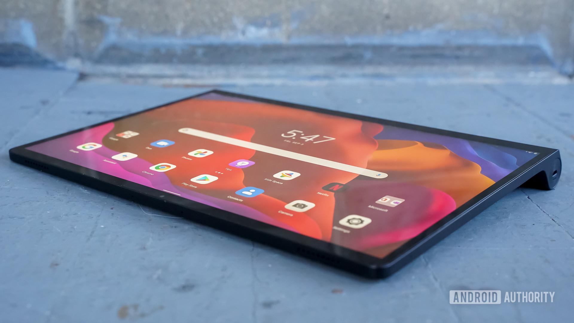 Lenovo Yoga Tab 13 laying down