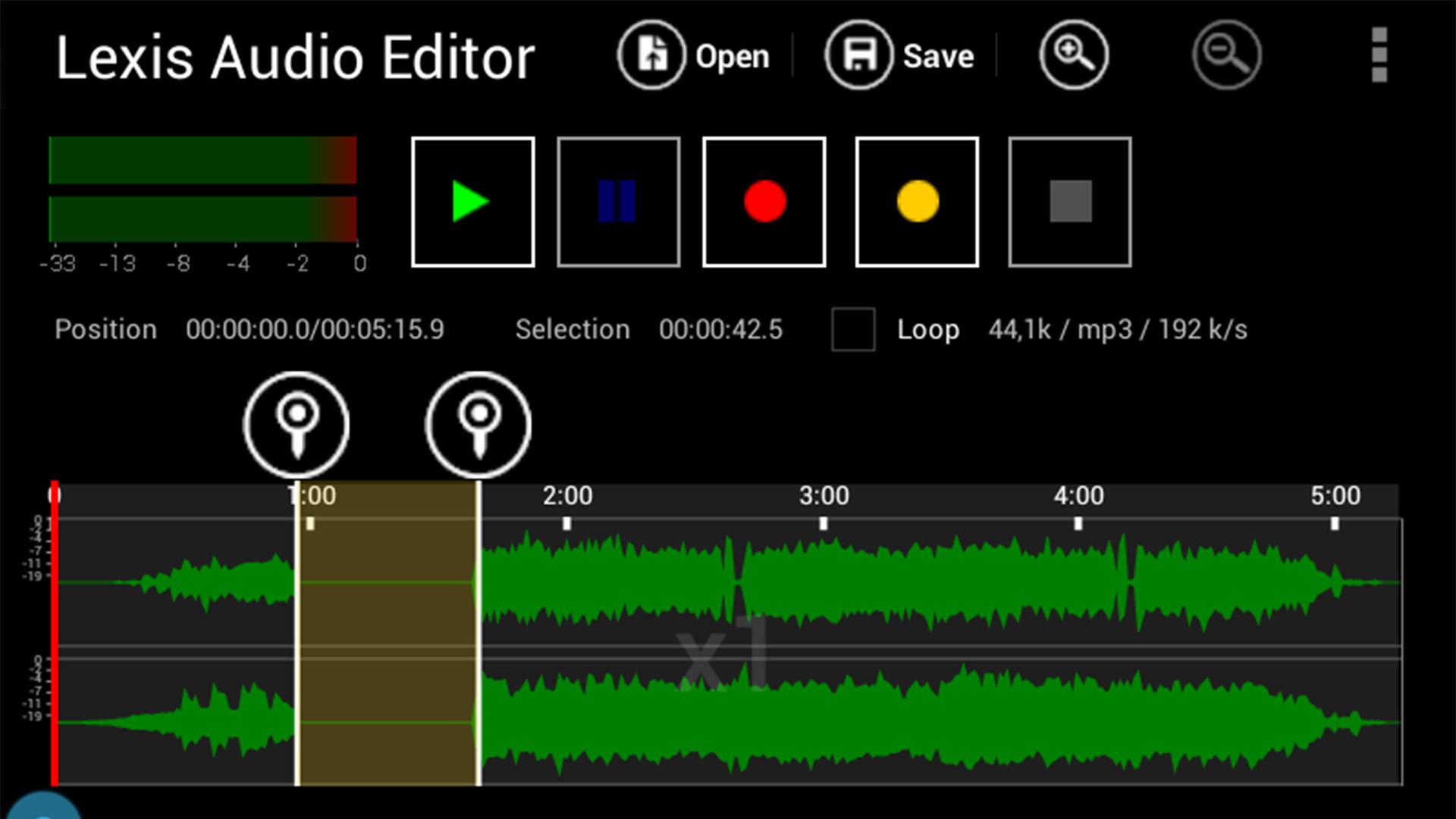 Lexis Audio Editor screenshot